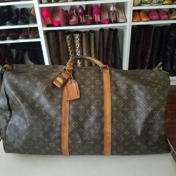 ec847ce4f25 Louis Vuitton Keepall 60 Monogram Tote Luggage Bag